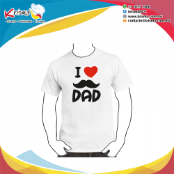 Playera I love Dad